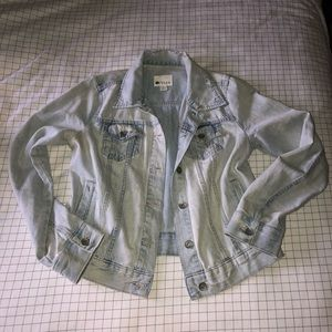 Light Distressed Jean Jacket